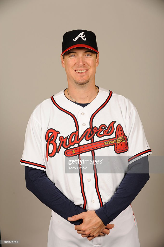 Kelly Johnson #24 of the Atlanta Braves poses during Photo Day on Monday, March 2, 2015 at Champion Stadium in Lake Buena Vista, Florida.