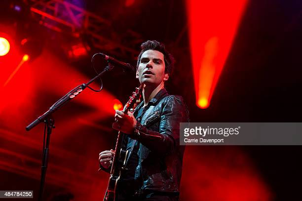 Kelly Jones of Stereophonics performs onstage at Custom House Square on August 21 2015 in Belfast Northern Ireland