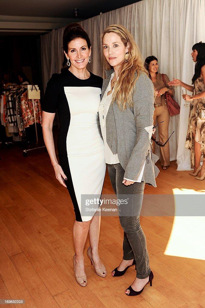 Kelly Katz and Elizabeth Berkley attend HEART/Stella McCartney Brunch on March 13, 2013 in Beverly Hills, California.
