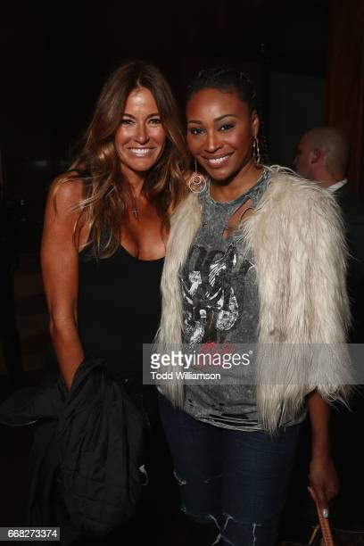 Kelly Killoren Bensimon and Cynthia Bailey attend The Hollywood Reporter 35 Most Powerful People In Media 2017 at The Pool on April 13 2017 in New...