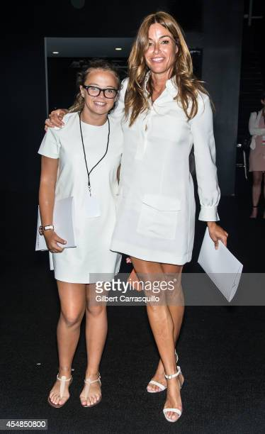 Kelly Killoren Bensimon and daughter Sea Louise Bensimon are seen at Lincoln Center during MercedesBenz Fashion Week on September 6 2014 in New York...
