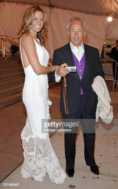 Kelly Killoren Bensimon and Gilles Bensimon during 'Chanel' Costume Institute Gala Opening at the Metropolitan Museum of Art Departures at The...