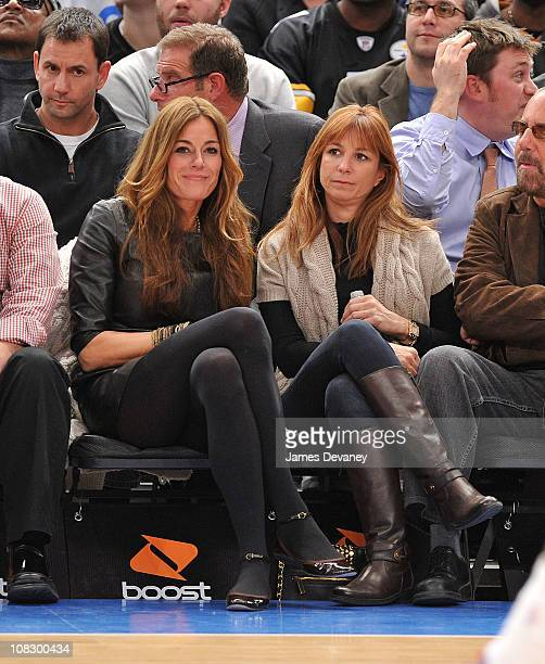 Kelly Killoren Bensimon and Jill Zarin attend the Washington Wizards vs New York Knicks game at Madison Square Garden on January 24 2011 in New York...