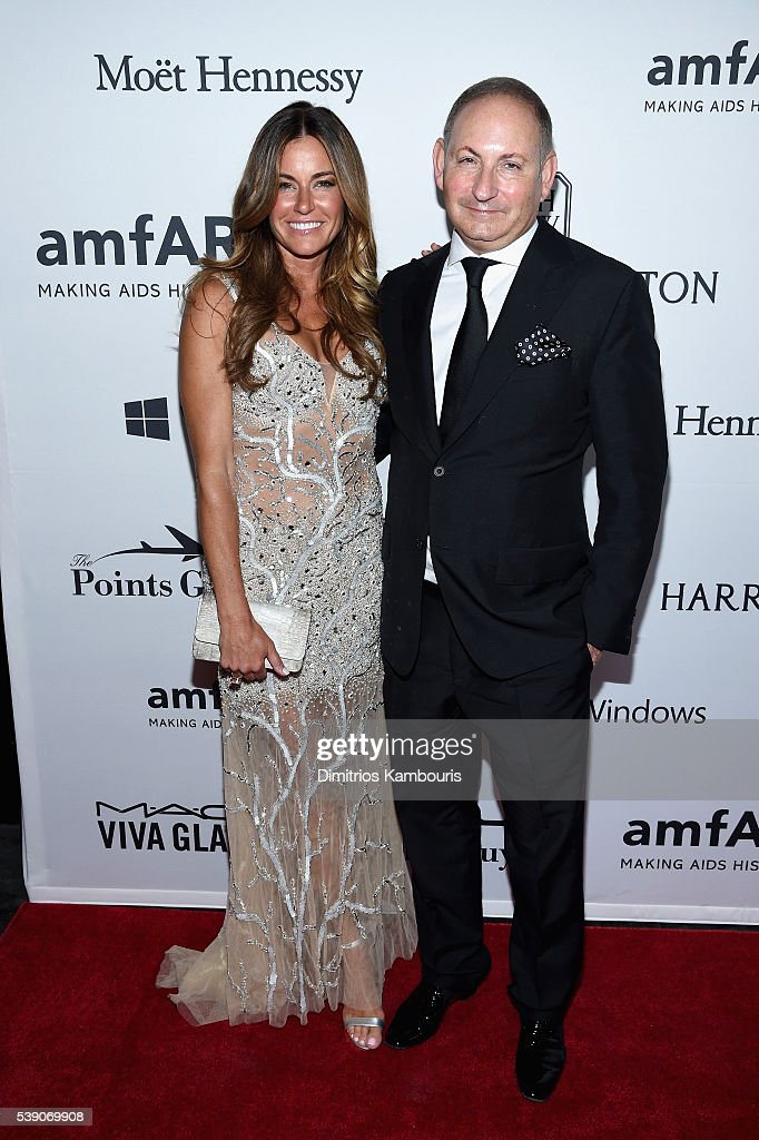 Kelly Killoren Bensimon and John Demsey attend the 7th Annual amfAR Inspiration Gala New York at Skylight at Moynihan Station on June 9 2016 in New...