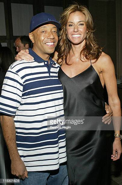 Kelly Killoren Bensimon and Russell Simmons during Kelly Killoren Bensimon Celebrates the Launch of The Bikini Book at The Yard at Soho Grand at The...