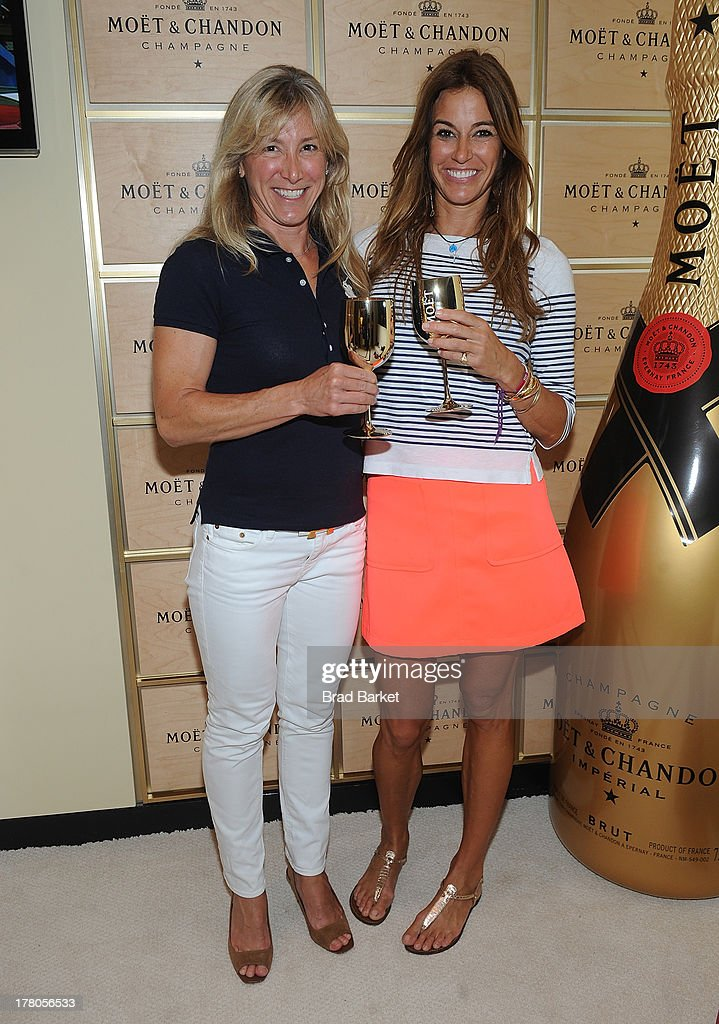 <a gi-track='captionPersonalityLinkClicked' href=/galleries/search?phrase=Kelly+Killoren+Bensimon&family=editorial&specificpeople=621950 ng-click='$event.stopPropagation()'>Kelly Killoren Bensimon</a> (R) and Tracy Chadwell enter caption here at USTA Billie Jean King National Tennis Center on August 26, 2013 in New York City.