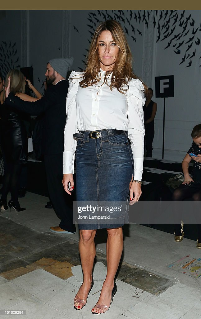<a gi-track='captionPersonalityLinkClicked' href=/galleries/search?phrase=Kelly+Killoren+Bensimon&family=editorial&specificpeople=621950 ng-click='$event.stopPropagation()'>Kelly Killoren Bensimon</a> attends Michael Bastian during Fall 2013 Mercedes-Benz Fashion Week on February 12, 2013 in New York City.