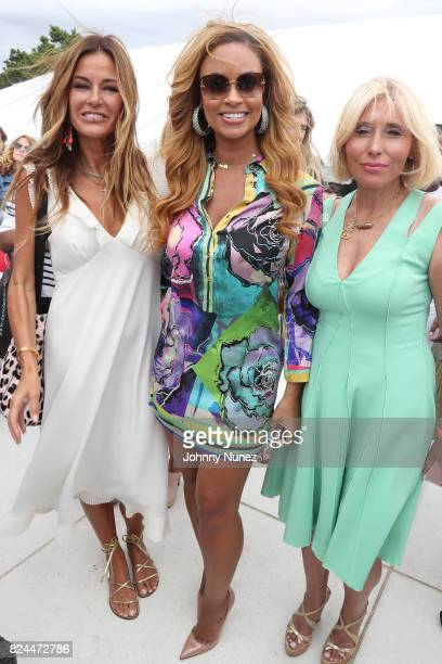 Kelly Killoren Bensimon Gizelle Bryant and Sophia Rabkin attends the Jill Zarin's 5th Annual Luxury Luncheon on July 29 2017 in Southampton New York