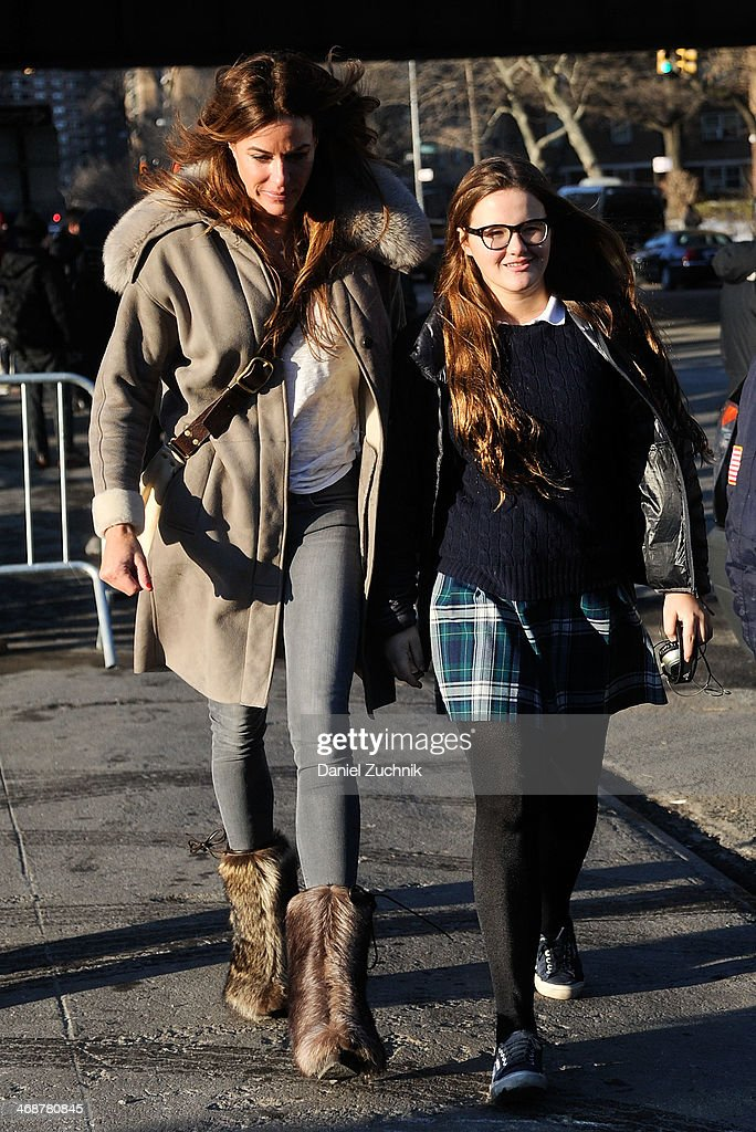 Kelly Killoren Bensimon with daughter Sea Louise Bensimon attend the Marc by Marc Jacobs show on February 11, 2014 in New York City.