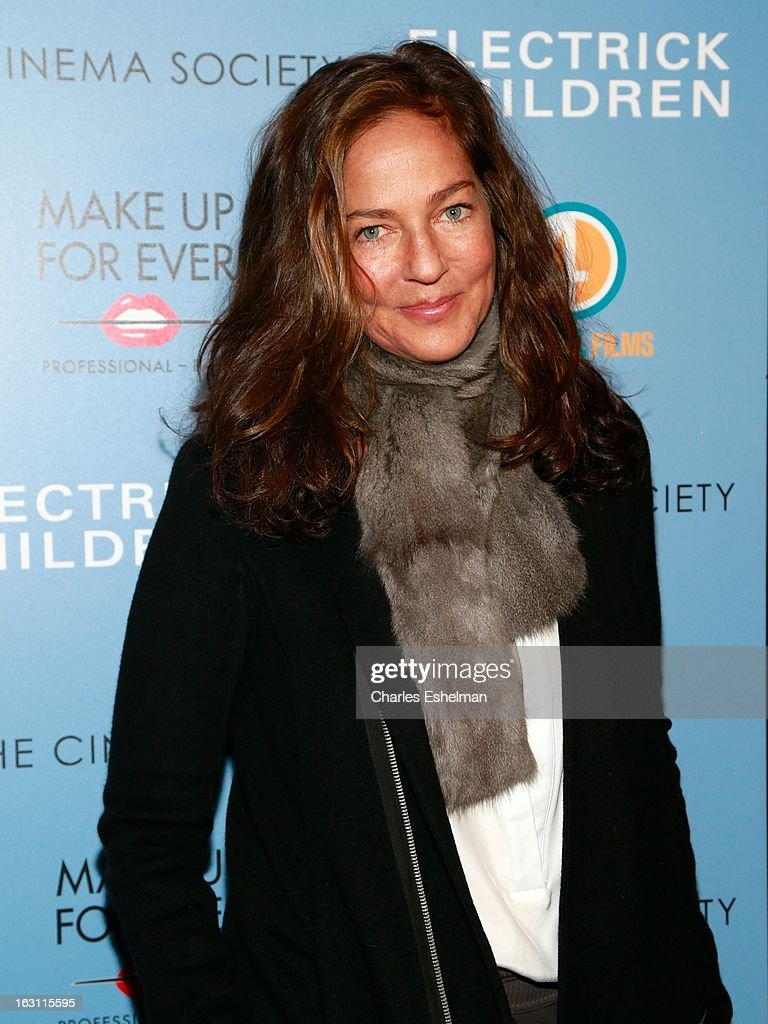 Kelly Klein attends The Cinema Society & Make Up For Ever host a screening of 'Electrick Children' at IFC Center on March 4, 2013 in New York City.
