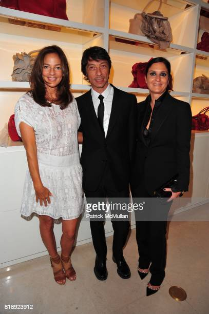 Kelly Klein Pier Paolo Piccioli and Maria Grazia Chiuri attend VALENTINO hosts Carlos Mota book launch 'Flowers Chic and Cheap' at Valentino on May 4...