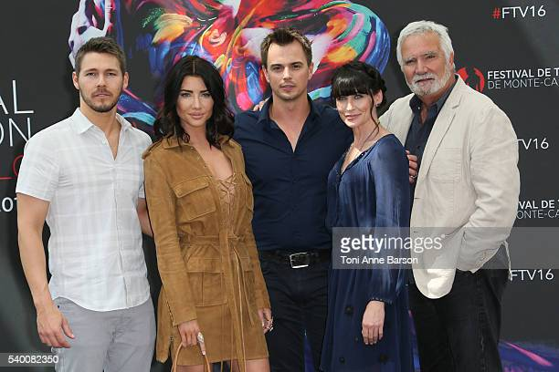 Kelly Kruger Scott Clifton Jacqueline Mac Innes Wood Darin Brooks Rena Sofer and John McCook attend 'The Bold and The Beautiful' Photocall as part of...