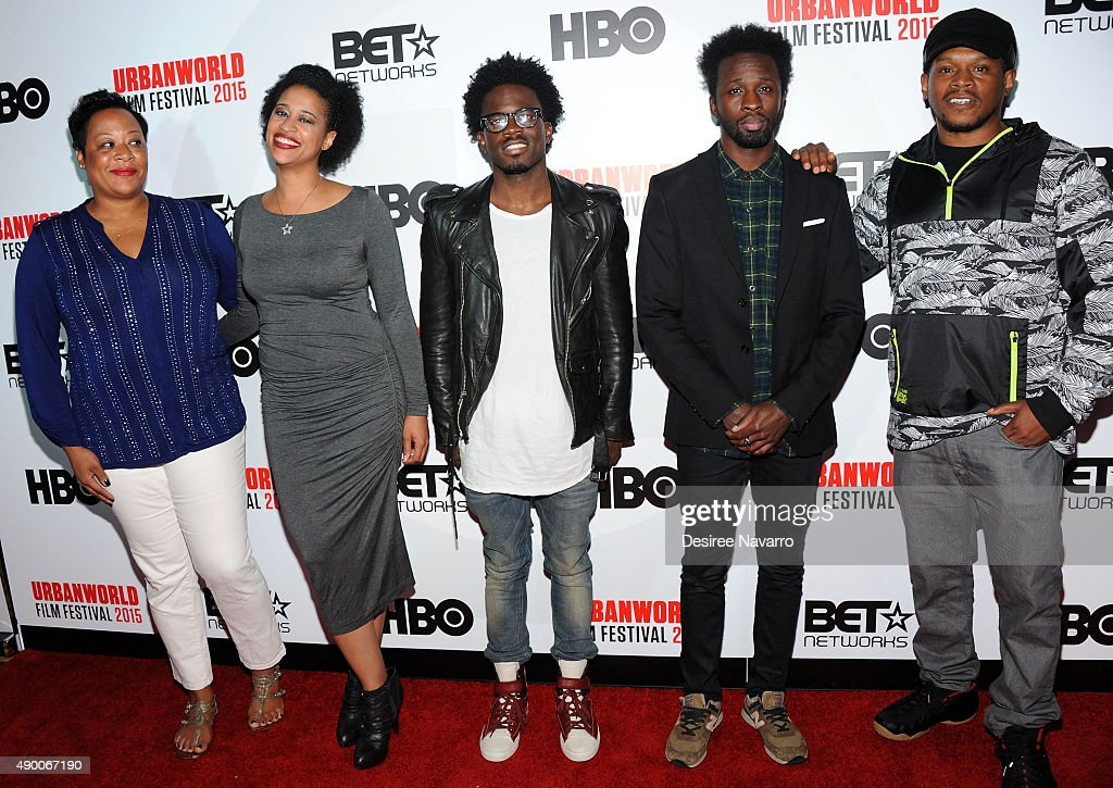Kelly L. Jackson, Kaili Y. Turner, Ade Otukoya, Justin Rambert and Sway Calloway attend 2015 Urbanworld Film Festival at AMC Empire 25 theater on September 25, 2015 in New York City.