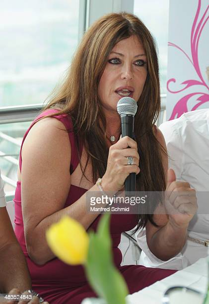 Kelly LeBrock attends the 'Dancer Against Cancer' press conference at Donauturm on April 4 2014 in Vienna Austria