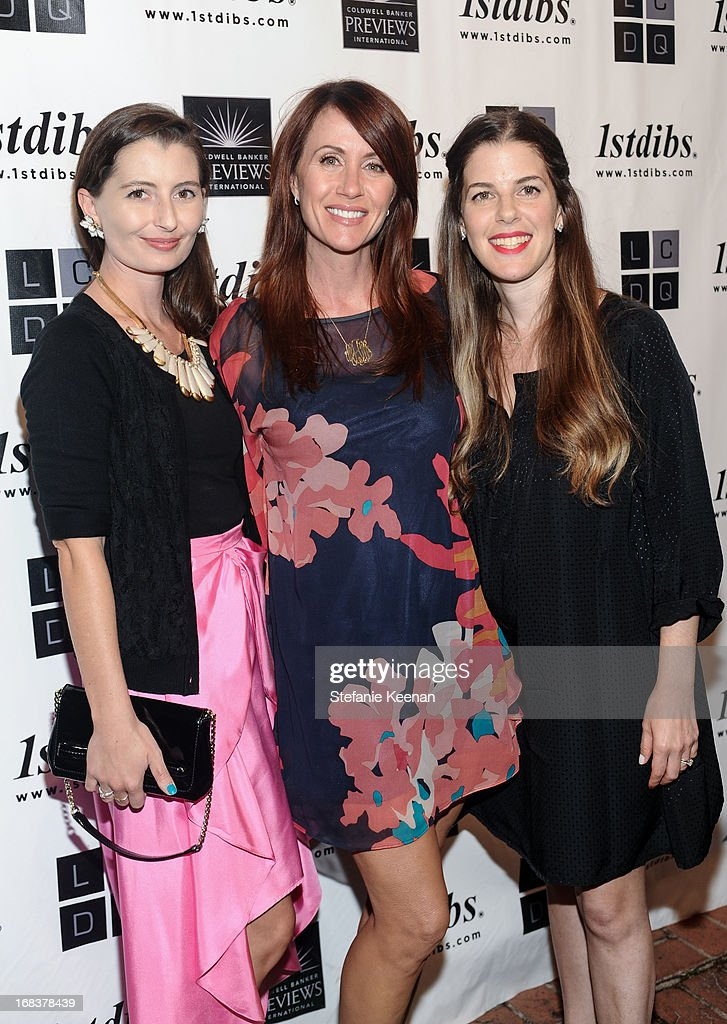 Kelly Lee, Megan Arquette and Alissa Swedlow attend LCDQ La Cienega Design Quarter Legends 2013 Time Capsule Gala at Therien & Co on May 8, 2013 in Los Angeles, California.