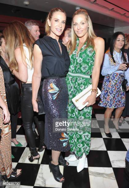 Kelly Lynch and WCRF Founder Jamie Tisch at SAKS FIFTH AVENUE and WOMENS CANCER RESEARCH FUND celebration of KEY TO THE CURE with MISSONI at Mr Chow...