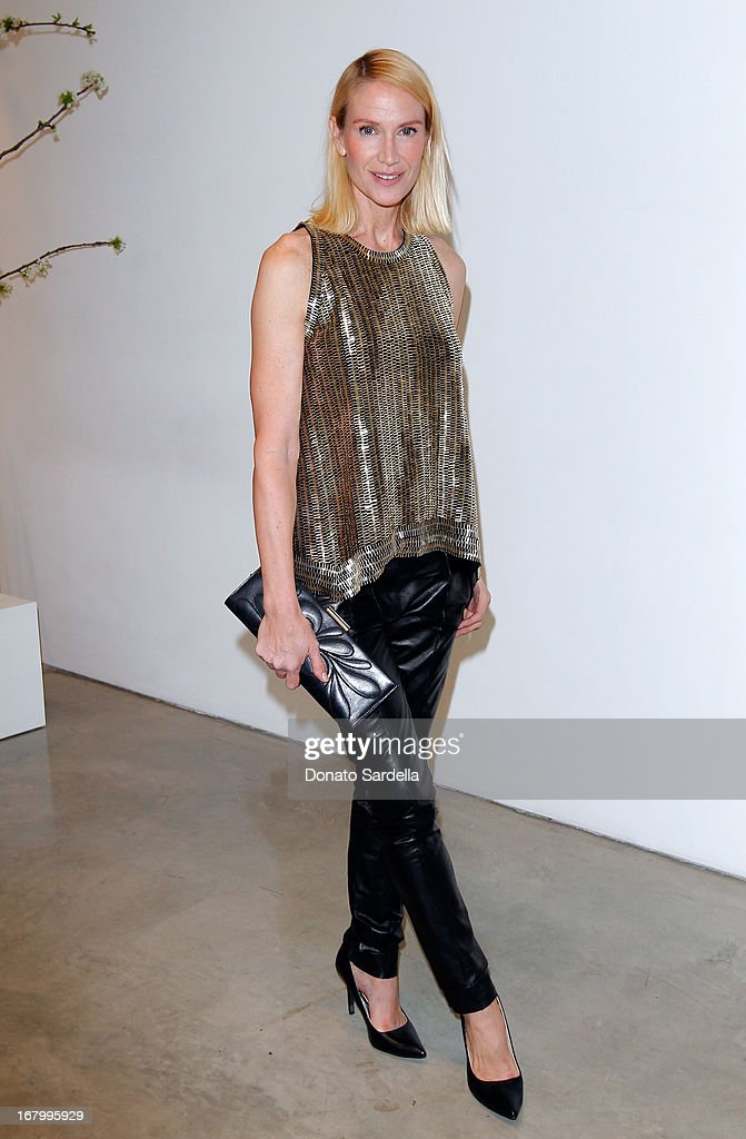 Kelly Lynch attends a cocktail reception hosted by Ferragamo to announce the inaugural opening gala for the Wallis Annenberg Center for the Performing Arts at Gagosian Gallery on May 3, 2013 in Beverly Hills, California.