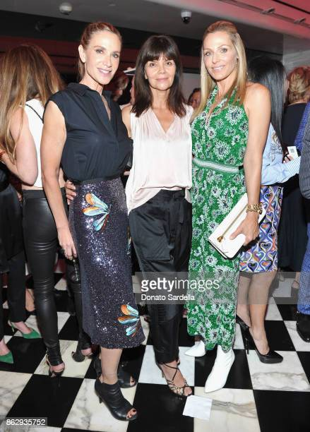 Kelly Lynch Carlota Espinoza and WCRF Founder Jamie Tisch at SAKS FIFTH AVENUE and WOMENS CANCER RESEARCH FUND celebration of KEY TO THE CURE with...