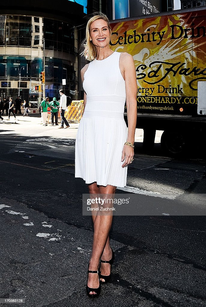 Kelly Lynch visits the NASDAQ MarketSite on June 12, 2013 in New York City.