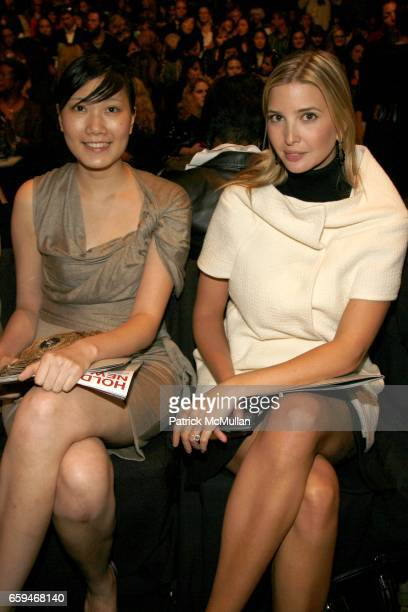 Kelly Ma and Ivanka Trump attend PORTS 1961 Spring 2010 Collection at The Tent on September 10 2009 in New York City