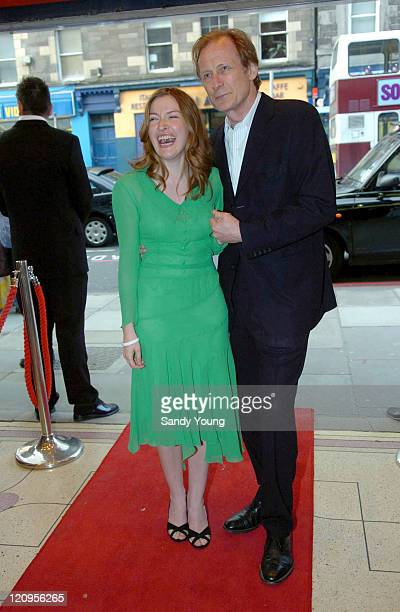 Kelly MacDonald and Bill Nighy during 'The Girl in the Cafe' Edinburgh Premiere May 26 2005 at Cameo Cinema in Edinburgh Great Britain