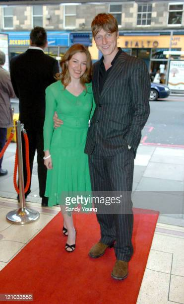 Kelly MacDonald and Dougie Payne from Travis during 'The Girl in the Cafe' Edinburgh Premiere May 26 2005 at Cameo Cinema in Edinburgh Great Britain