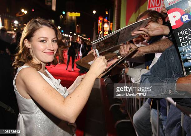 Kelly Macdonald arrives at the premiere of Miramax Films' 'No Country For Old Men' held at the El Capitan Theater on November 4 2007 in Hollywood...