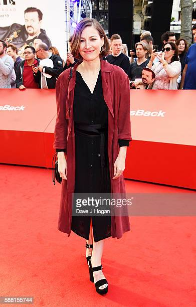 Kelly Macdonald arrives for the World premiere of 'David Brent Life on the Road' at Odeon Leicester Square on August 10 2016 in London England