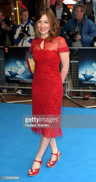 Kelly MacDonald during 'Hitchhiker's Guide to the Galaxy' London Premiere Outside Arrivals at Empire Leicester Square in London Great Britain