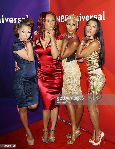 Kelly Marie Dunn Nikki Chu Eva Marcelle and Denyce Lawton arrive at the 2012 TCA Summer press tour NBC Photo Call Day 2 held at The Beverly Hilton...