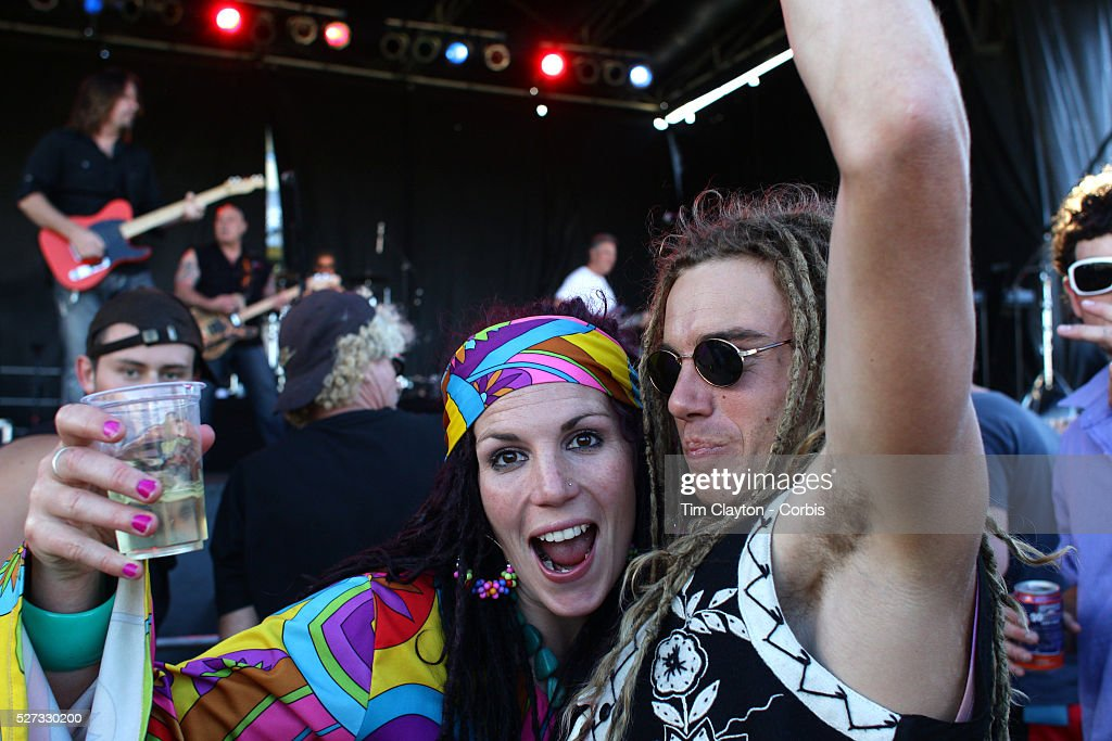 Kelly Martin and George Foster dressedi in 70's costume dancing to the Creedence Clearwater Revisited performance at the Queenstown Events Centre...