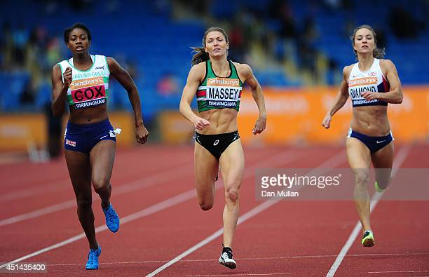 Kelly Massey wins the Women's 400m Final during day three of the Sainsbury's British Championships at Birmingham Alexander Stadium on June 29 2014 in...