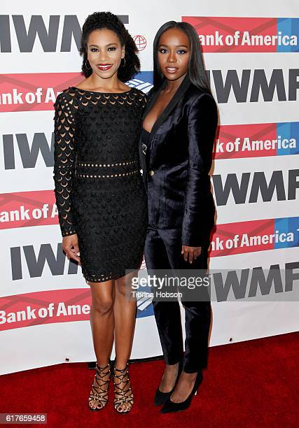 Kelly McCreary and Aja Naomi King attend the International Women's Media Foundation 27th annual Courage In Journalism Awards at the Beverly Wilshire...