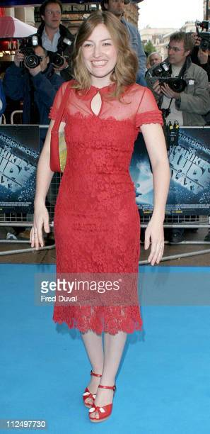 Kelly McDonald during 'Hitchhiker's Guide to the Galaxy' London Premiere at Leicester Square The Dorchester in London Great Britain