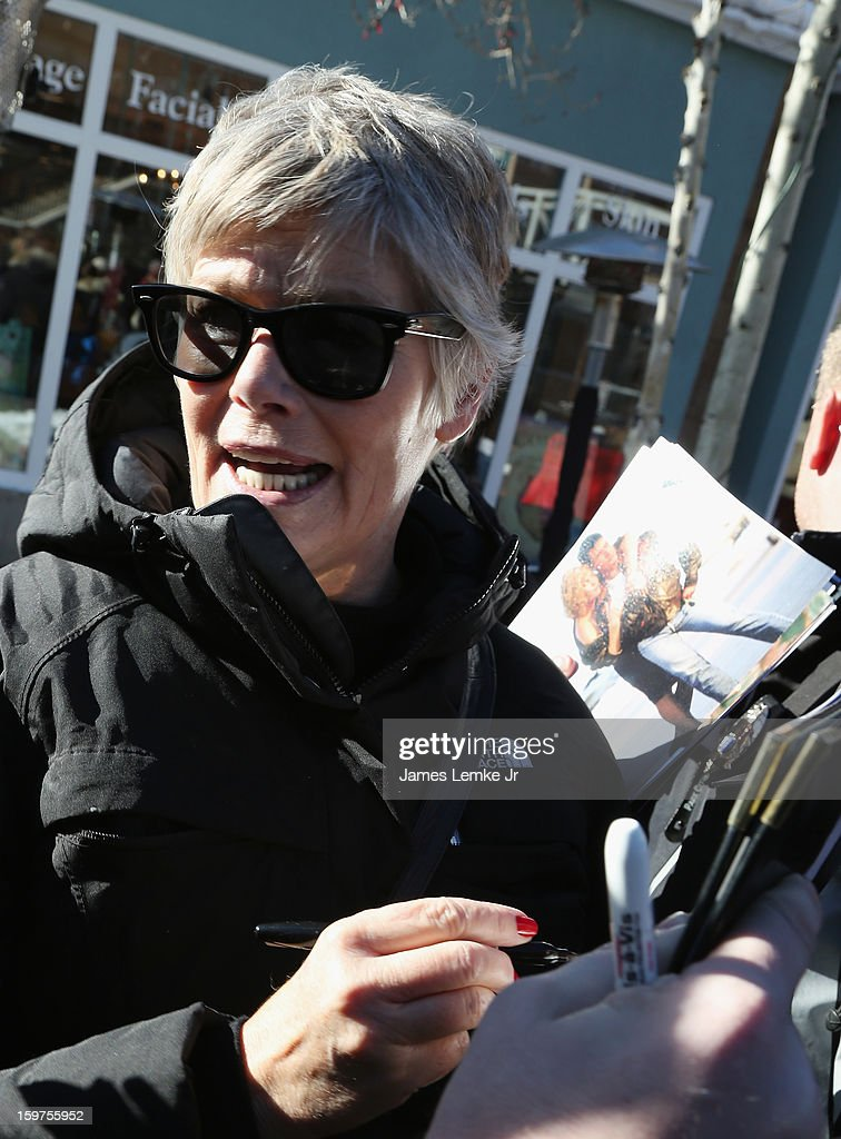 Kelly McGillis is seen walking Main street on January 19, 2013 in Park City, Utah.