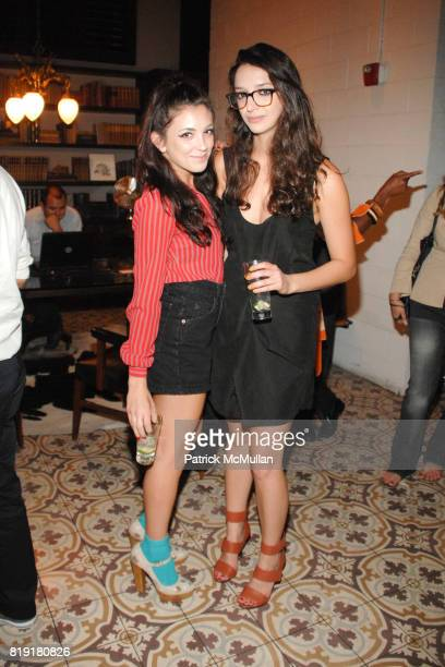 Kelly McKee and Sandy Daryin attend The Darker Side of Green debate series moderated by Andy Samberg at Palihouse on July 8 2010 in Los Angeles CA
