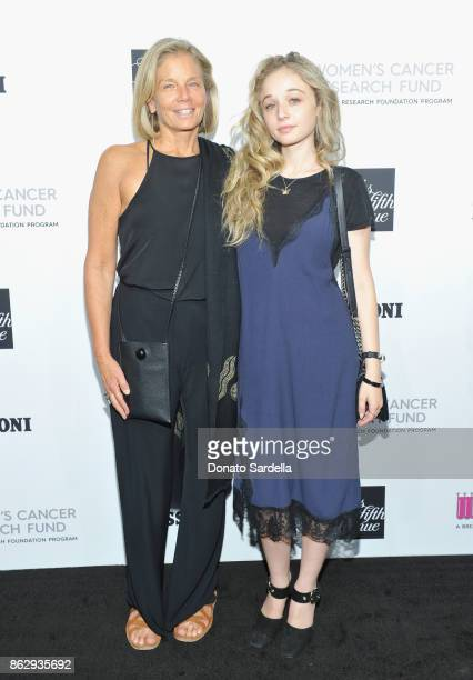 Kelly Meyer and Carson Meyer at SAKS FIFTH AVENUE and WOMENS CANCER RESEARCH FUND celebration of KEY TO THE CURE with MISSONI at Mr Chow on October...