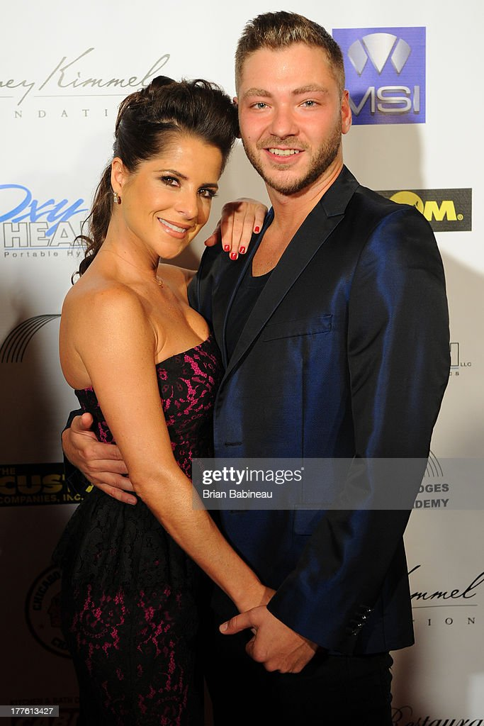 <a gi-track='captionPersonalityLinkClicked' href=/galleries/search?phrase=Kelly+Monaco&family=editorial&specificpeople=3958054 ng-click='$event.stopPropagation()'>Kelly Monaco</a> and Serge Onik attend the Dancing with the Stars Charity event hosted by Jenny McCarthy on August 24, 2013 at Hotel Baker in St Charles, Illinois.