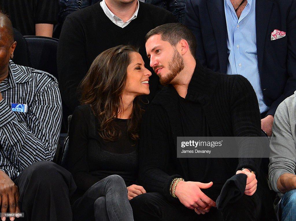 Kelly Monaco and Valentin Chmerkovskiy attend the Chicago Bulls vs New York Knicks game at Madison Square Garden on December 21, 2012 in New York City.