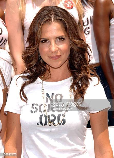 Kelly Monaco during Kelly Monaco and Brooke Burke Lead NO SCRUFForg Rally to Protest Scruffy Guys July 11 2006 at Herald Square in New York City New...