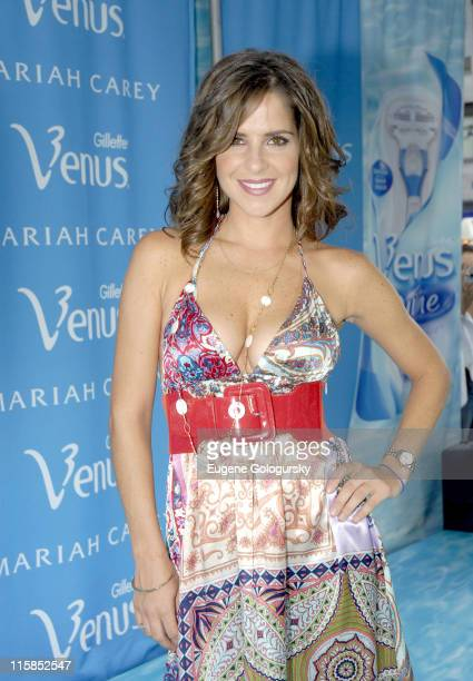 Kelly Monaco during Kelly Monaco of 'General Hospital' Judges at the Venus 'Celebrity Legs of a Goddess' at Madison Square Garden in New York City...