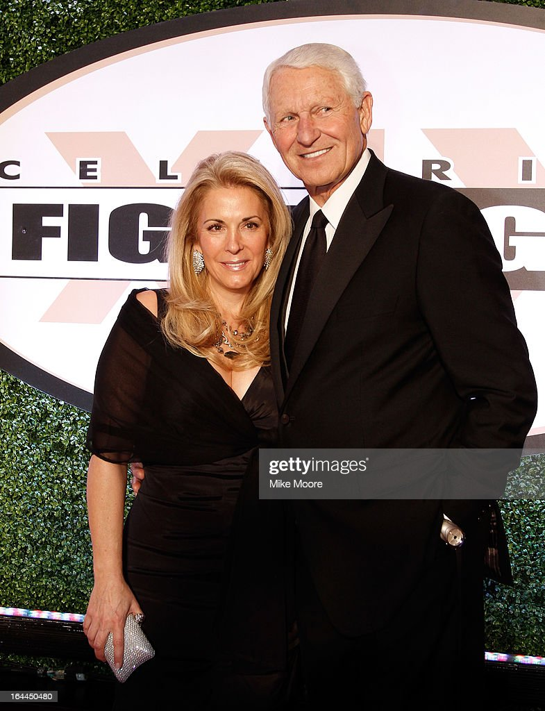 Kelly Olson and <a gi-track='captionPersonalityLinkClicked' href=/galleries/search?phrase=Lute+Olson&family=editorial&specificpeople=217777 ng-click='$event.stopPropagation()'>Lute Olson</a> attends Muhammad Ali's Celebrity Fight Night XIX at JW Marriott Desert Ridge Resort & Spa on March 23, 2013 in Phoenix, Arizona.