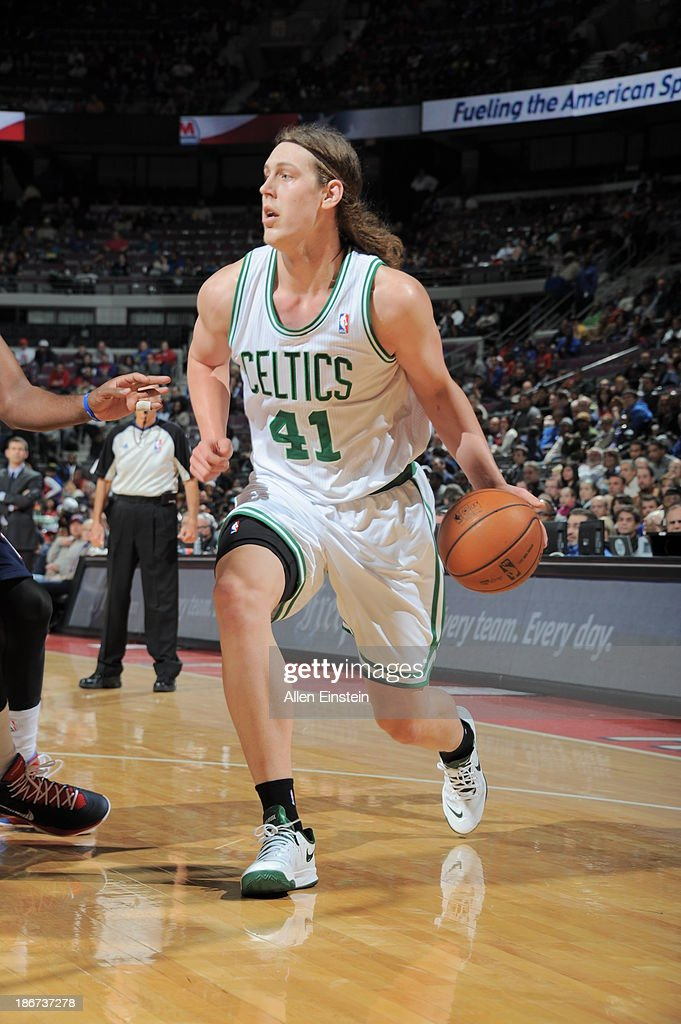 <a gi-track='captionPersonalityLinkClicked' href=/galleries/search?phrase=Kelly+Olynyk&family=editorial&specificpeople=5953512 ng-click='$event.stopPropagation()'>Kelly Olynyk</a> #41 of the Boston Celtics drives to the basket against the Detroit Pistons on November 3, 2013 at The Palace of Auburn Hills in Auburn Hills, Michigan.