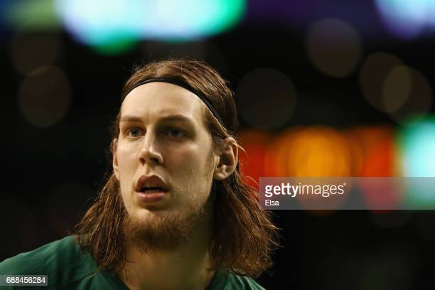 Kelly Olynyk of the Boston Celtics looks on prior to Game Five of the 2017 NBA Eastern Conference Finals against the Cleveland Cavaliers at TD Garden...