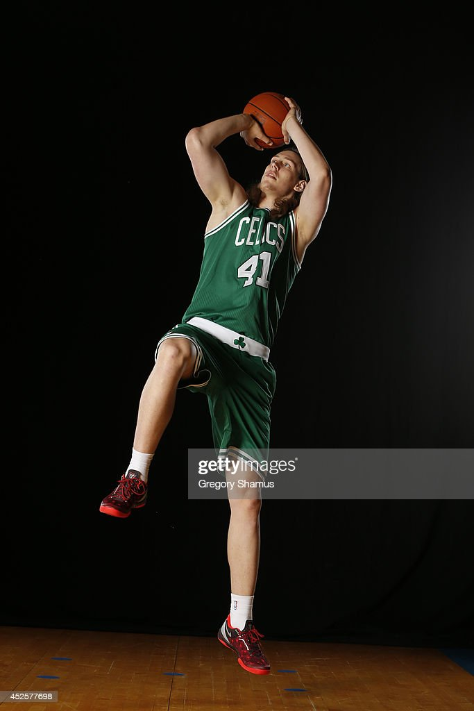 Kelly Olynyk #41 of the Boston Celtics poses for a portrait during the 2013 NBA rookie photo shoot on August 6, 2013 at the Madison Square Garden Training Facility in Tarrytown, New York.