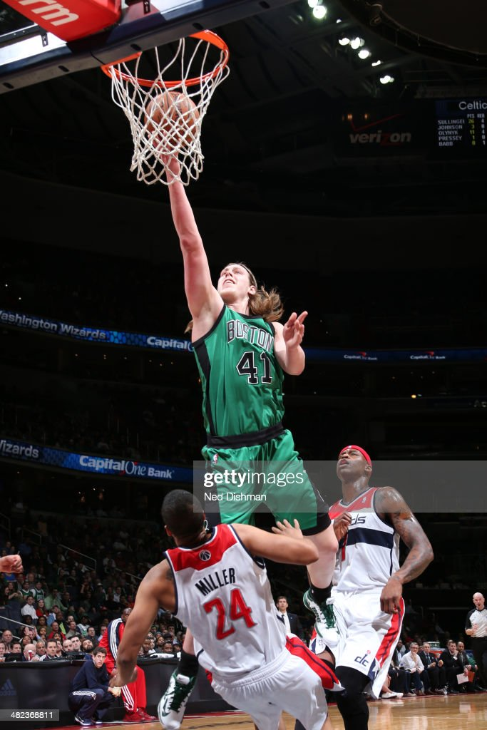 <a gi-track='captionPersonalityLinkClicked' href=/galleries/search?phrase=Kelly+Olynyk&family=editorial&specificpeople=5953512 ng-click='$event.stopPropagation()'>Kelly Olynyk</a> #41 of the Boston Celtics shoots against the Washington Wizards at the Verizon Center on April 2, 2014 in Washington, DC.
