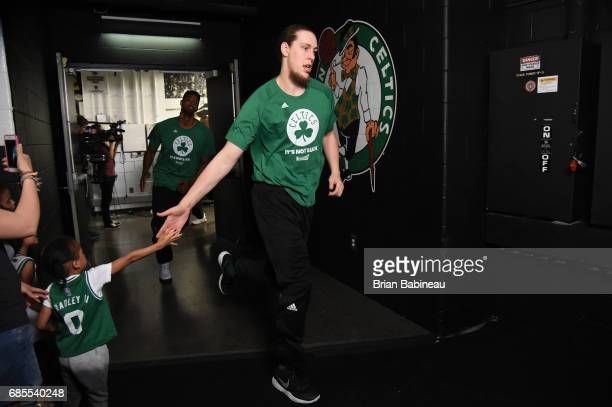 Kelly Olynyk of the Boston Celtics takes the court during Game Two of the Eastern Conference Finals of the 2017 NBA Playoffs on May 19 2017 at the TD...