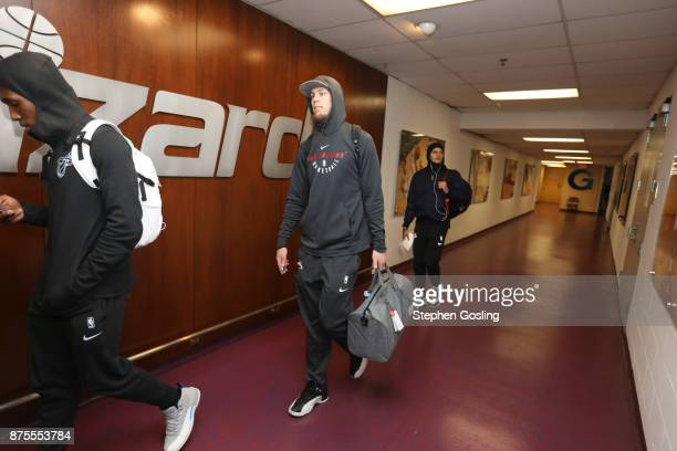 Kelly Olynyk of the Miami Heat arrival on November 17 2017 at Capital One Arena in Washington DC NOTE TO USER User expressly acknowledges and agrees...