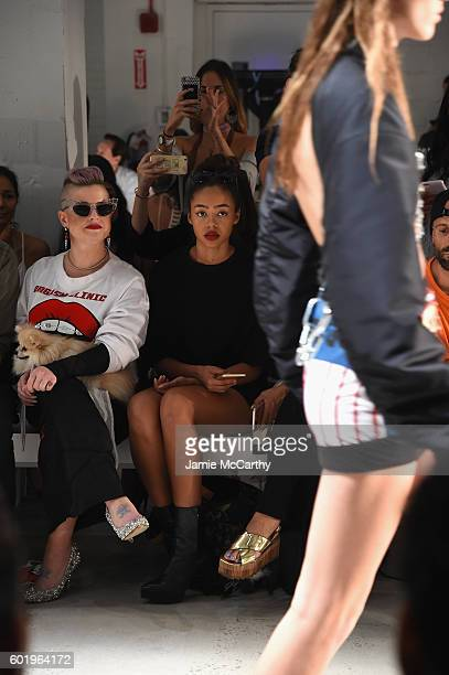 Kelly Osbourne and Bella Harris attend the Namilia fashion show during New York Fashion Week September 2016 at The Gallery Skylight at Clarkson Sq on...