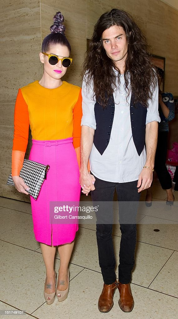 <a gi-track='captionPersonalityLinkClicked' href=/galleries/search?phrase=Kelly+Osbourne&family=editorial&specificpeople=156416 ng-click='$event.stopPropagation()'>Kelly Osbourne</a> and boyfriend Matthew Mosshart are seen around Lincoln Center during Spring 2013 Mercedes-Benz Fashion Week on September 10, 2012 in New York City.